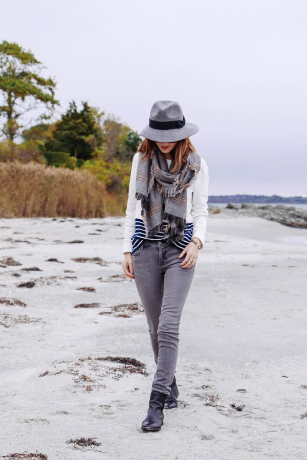 plaid scarf casual fall fashion bmodish