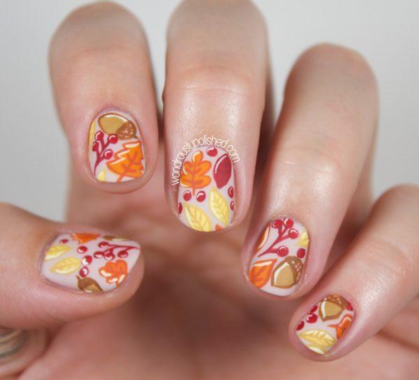 pretty fall nail art idea bmodish