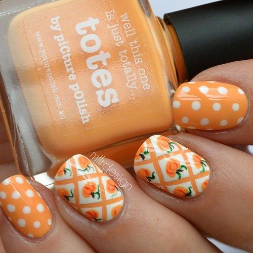 16 fall nail art designs youll fall in love with be modish pretty pumpkins nailart bmodish prinsesfo Choice Image