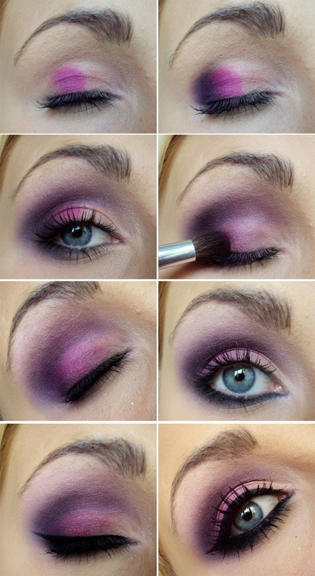 Amazing Collection Of Purple Eye Makeup Tutorial Be Modish