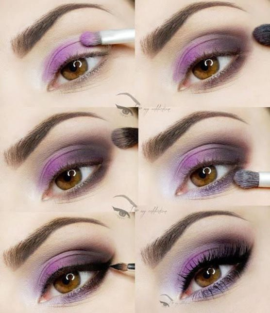 purple eye shadow bmodish