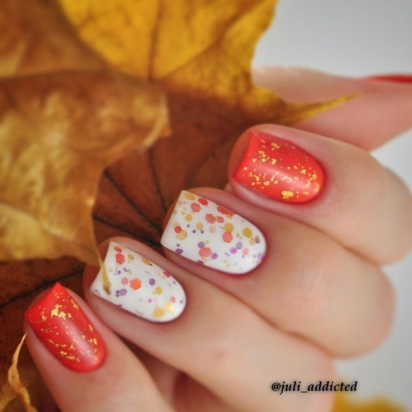 simple fall nailart idea bmodish