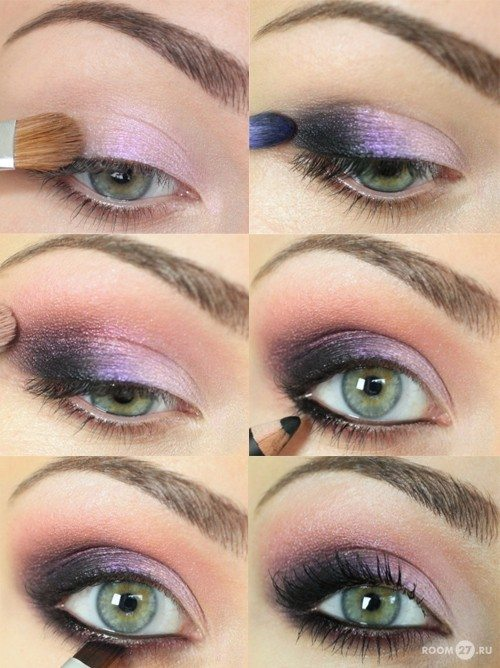 smokey purple makeup bmodish
