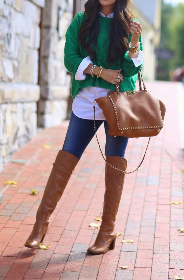 tan over the knee boots bmodish