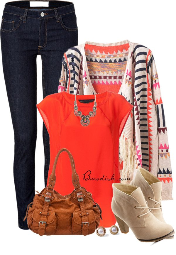 bright fall outfit bmodish 2014