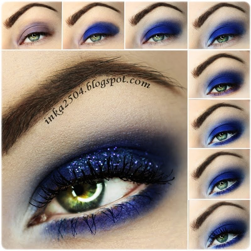 cobalt blue smokey eye makeup bmodish