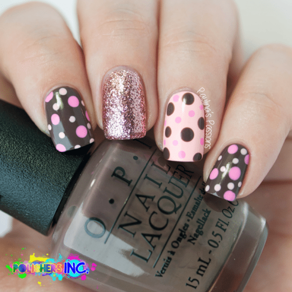 cute polka dots nails bmodish - 20 Cute Dotticure And Polka Dots Nail Arts Ideas - Be Modish