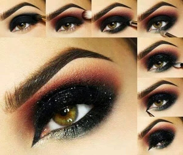dark and red dramatic smokey eye makeup tutorial bmodish