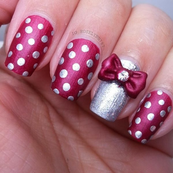 dotticure nails with bow bmodish