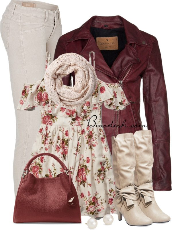 floral dress fall outfit bmodish 2014