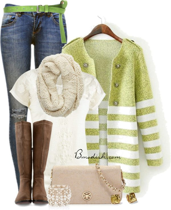 fresh green peacoat for fall outfits polyvore bmodish