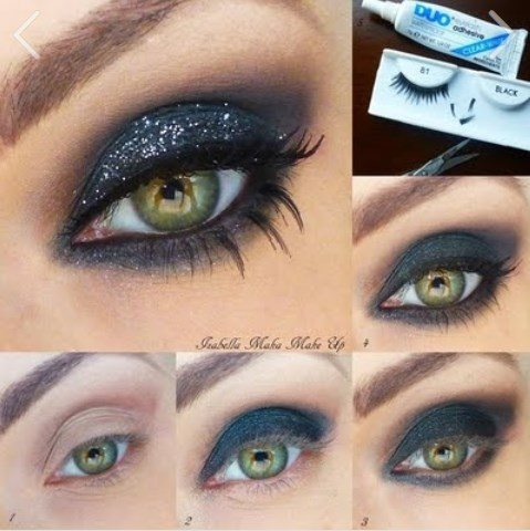 glitter night smokey eye makeup tutorial bmodish