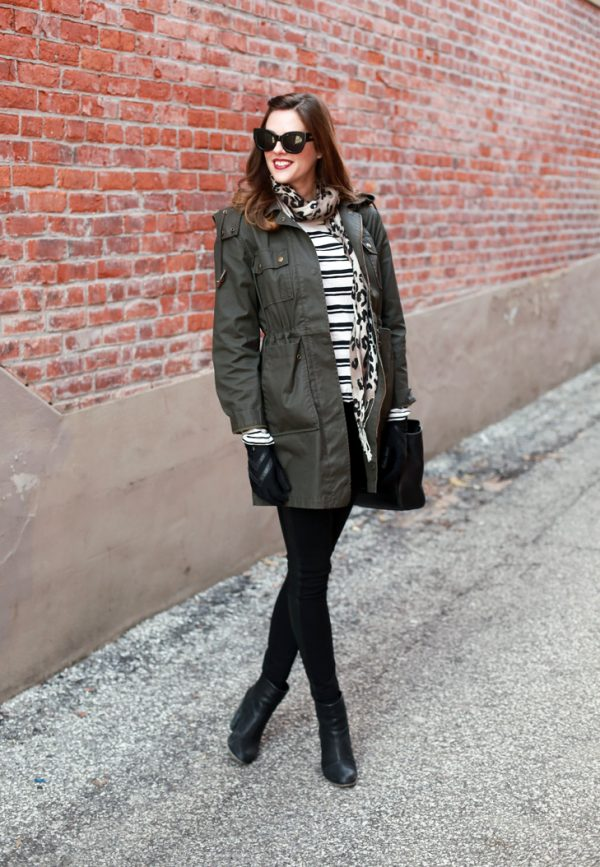 green utility military jacket fall fashion bmodish