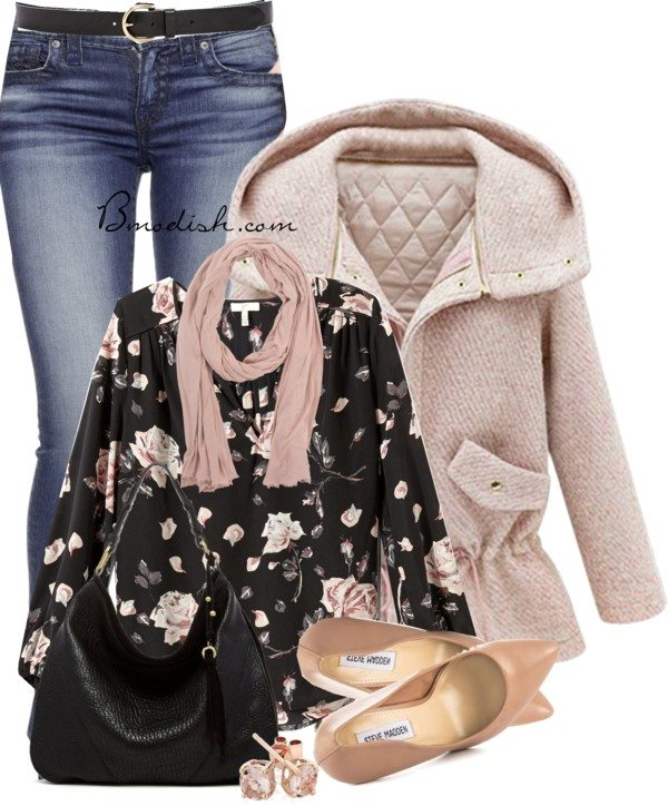 how to wear pastel pink fall outfit bmodish 2014