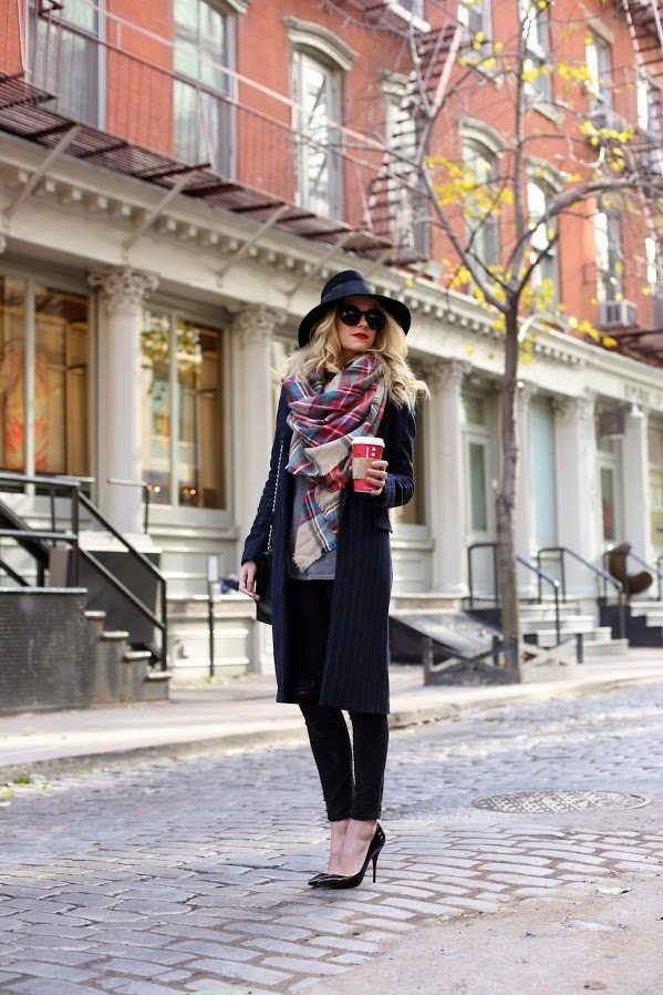 how to wear tartan scarf tumblr bmodish