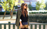 military mix and match fall fashion bmodish