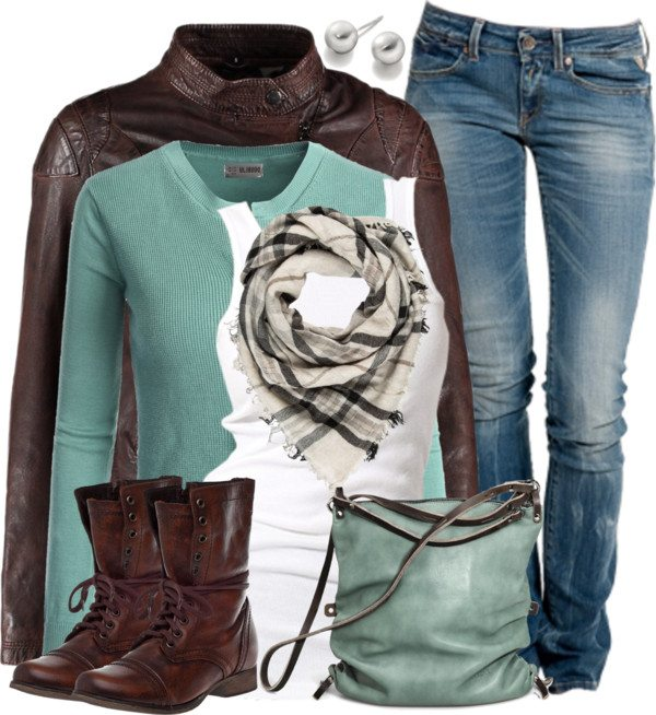 mint and chocolate fall outfit combination bmodish 2014