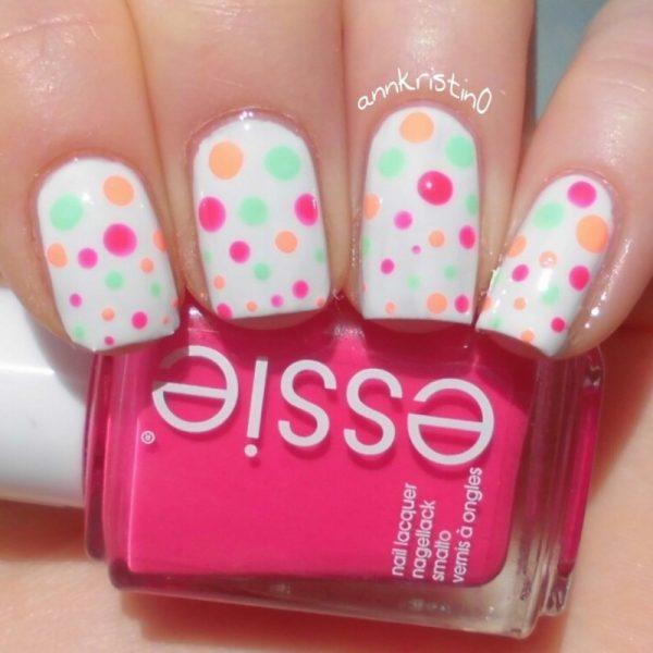 neon dotticure nails bmodish
