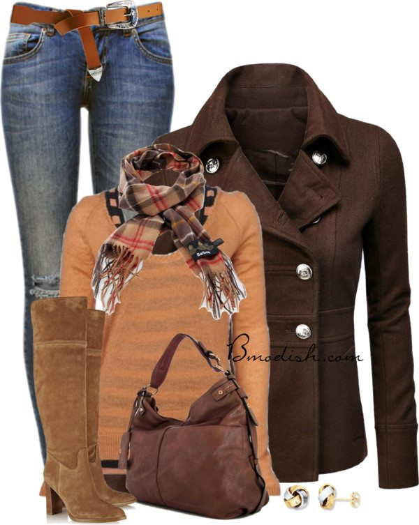 pea coat cozy fall outfit bmodish 2014