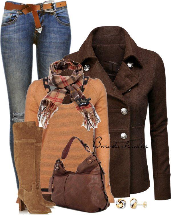 pea coat cozy fall outfit bmodish 2014
