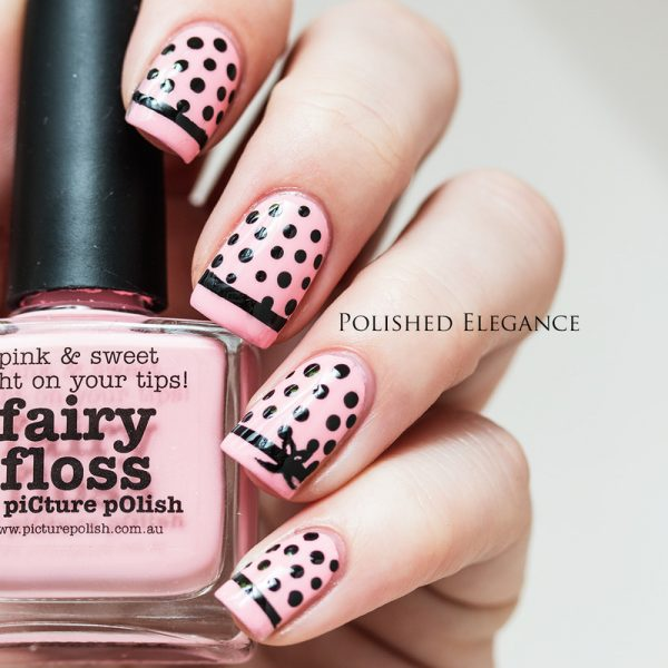 pink ribbon dotticure nails bmodish