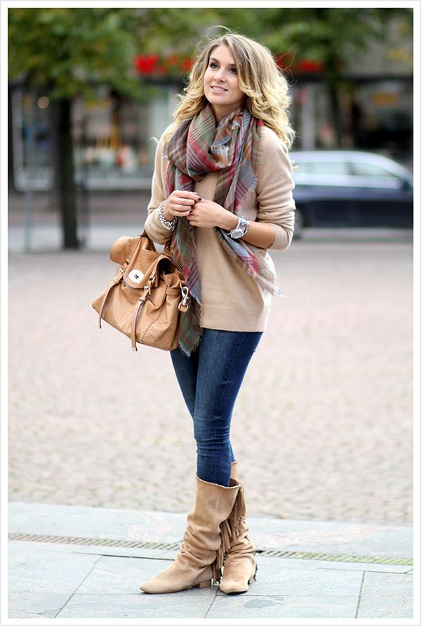 plaid flannel scarf for fall fashion bmodish