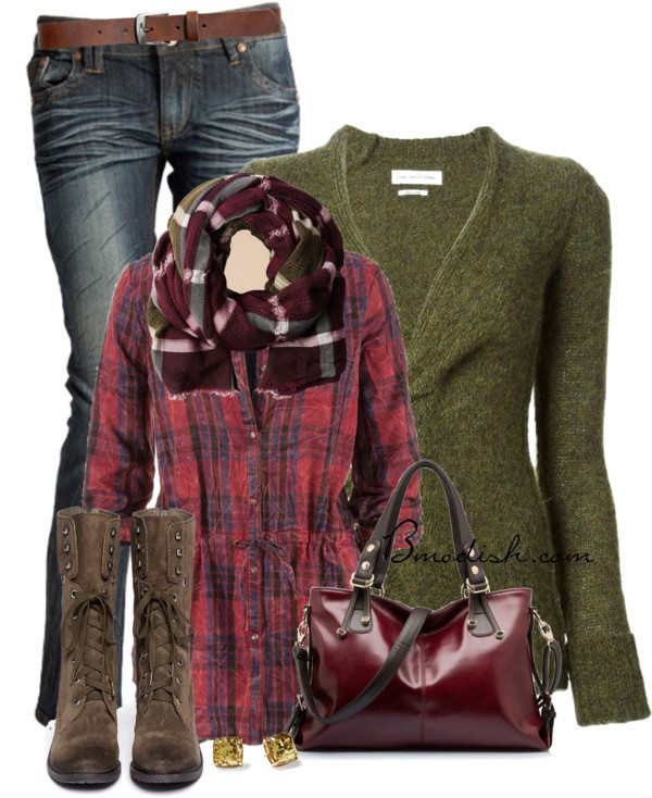 plaid shirt fall outfit bmodish 2014