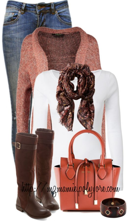 printed scarf casual fall outfit bmodish 2014