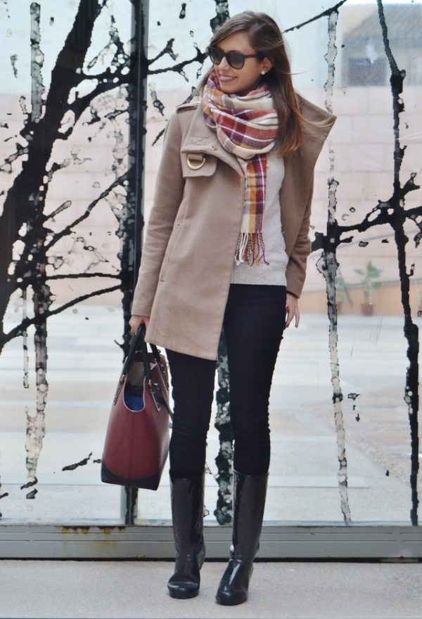 ray-ban-marcas-de-ropa-gafas-de-sol-stradivarius-azafran plaid tartan scarf bmodish
