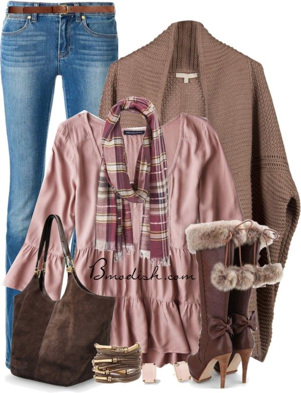 rose pink feminin fall outfit bmodish 2014