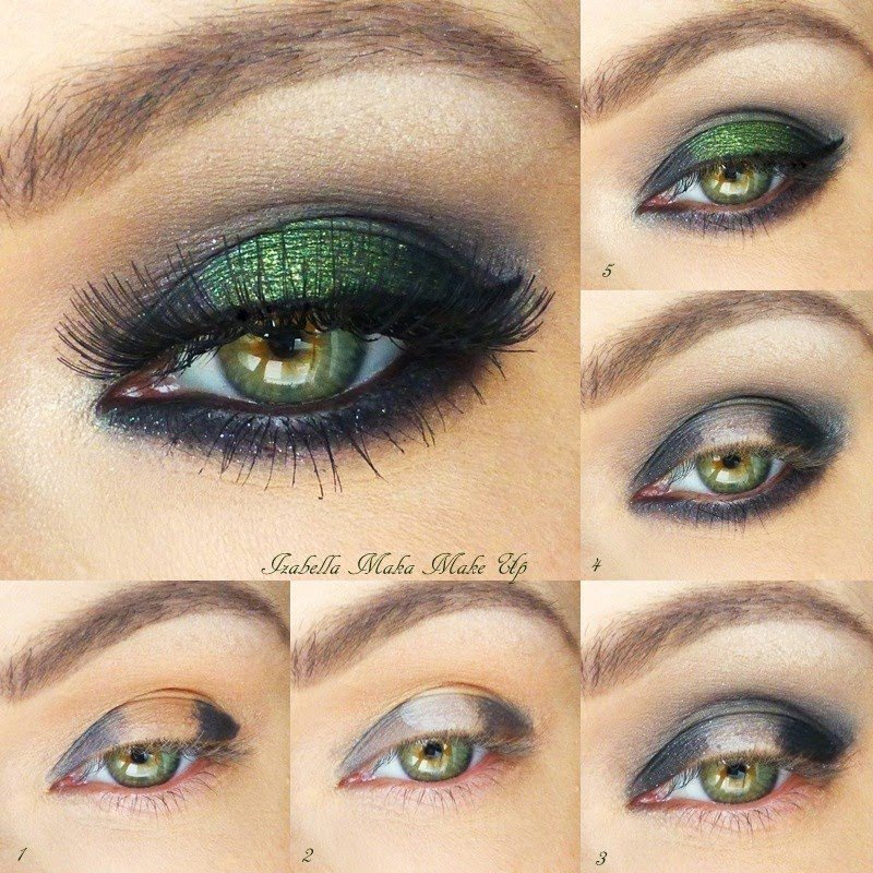 smokey-emerald_eye makeup look bmodish