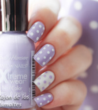 soft purple polka dots nailart bmodish