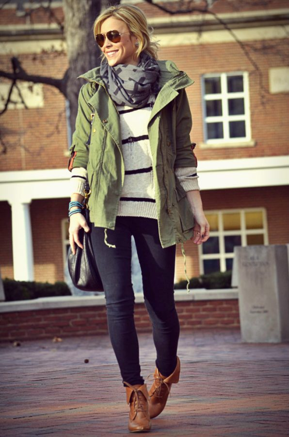 stylish military jacket fall winter fashion bmodish