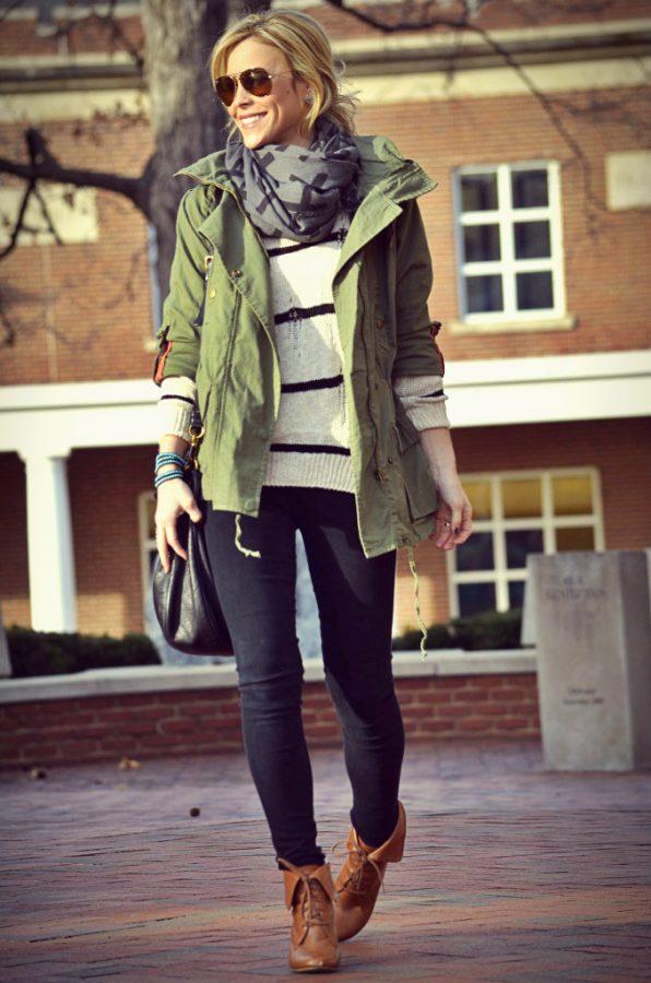 stylish military jacket fall winter fashion bmodish