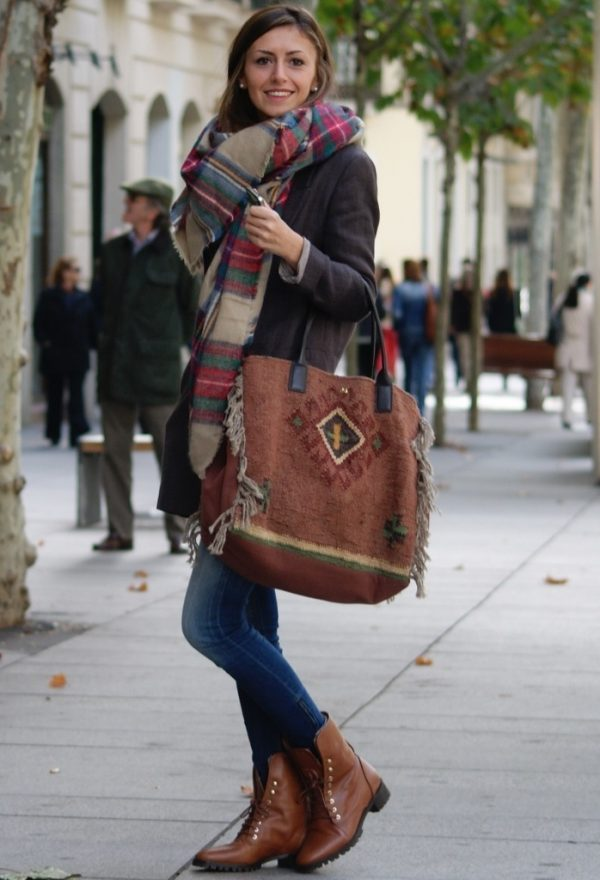 cozy Tartan scarf for fall and winter bmodish