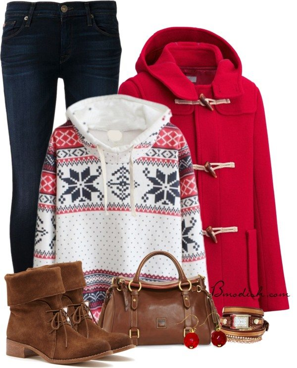 Aztec hoodie winter outfit polyvore bmodish