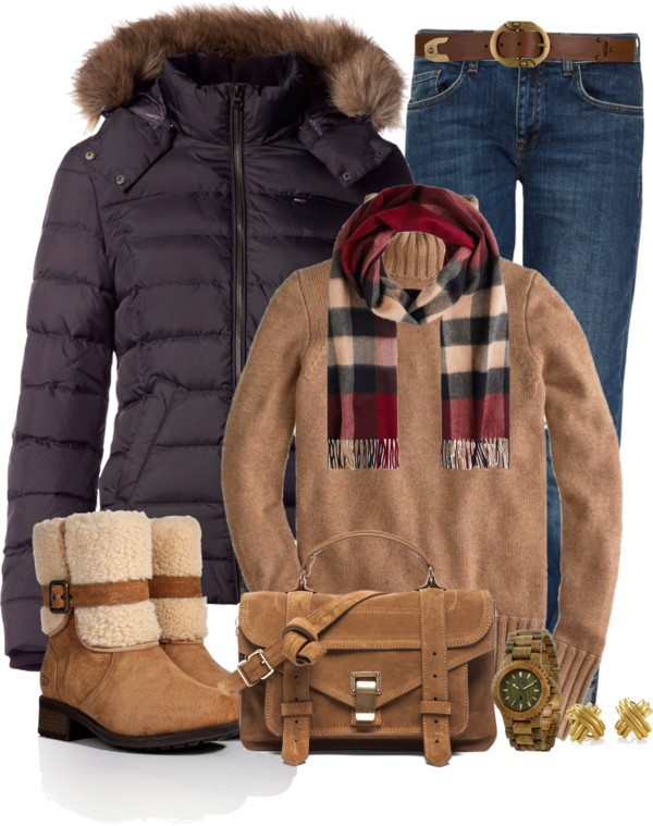Bomber jacket cozy polyvore winter outfit bmodish