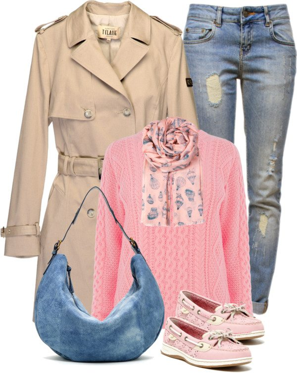 Casual trench coat and jeans polyvore outfit combination bmodish