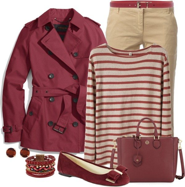 Cranberry trench coat casual fall outfit bmodish