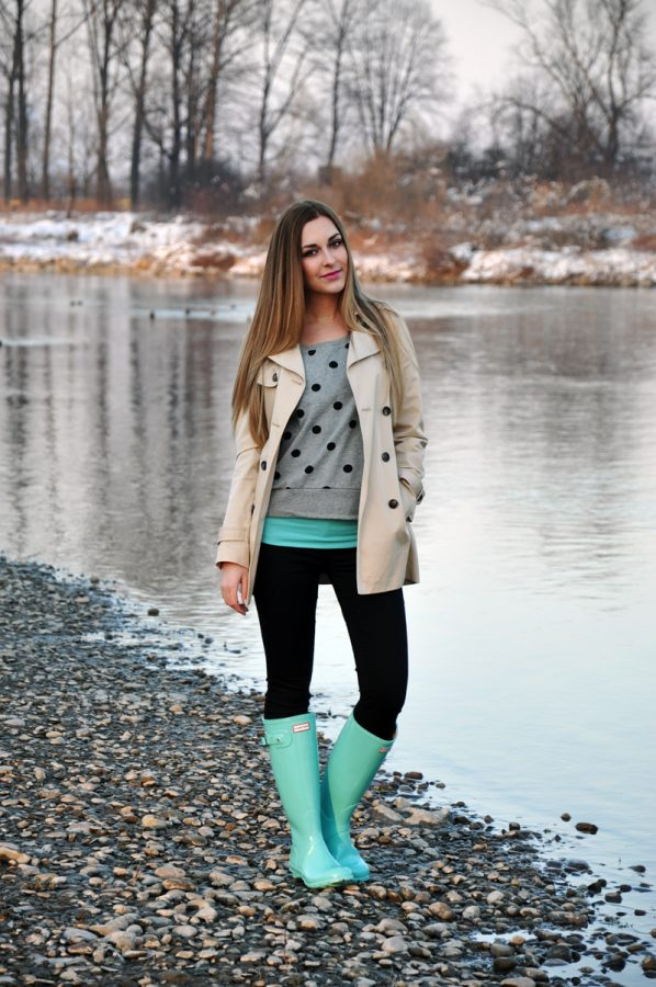 Cute turquoise hunter boots bmodish