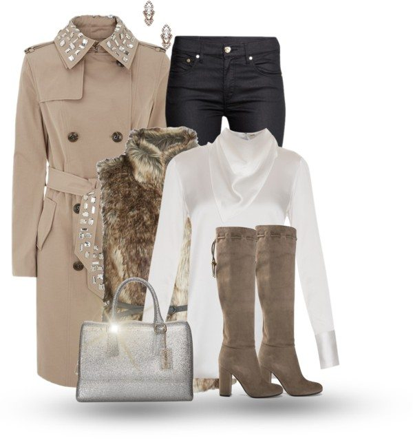 belted trench coat fall outfit bmodish