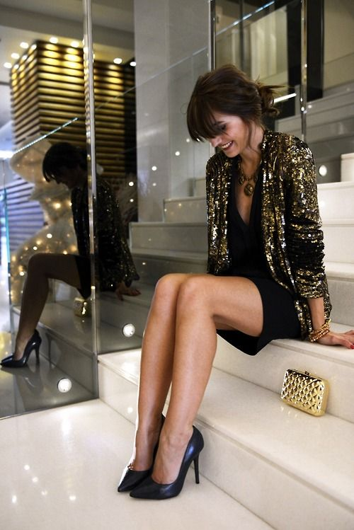 black sequin blazer outfit bmodish