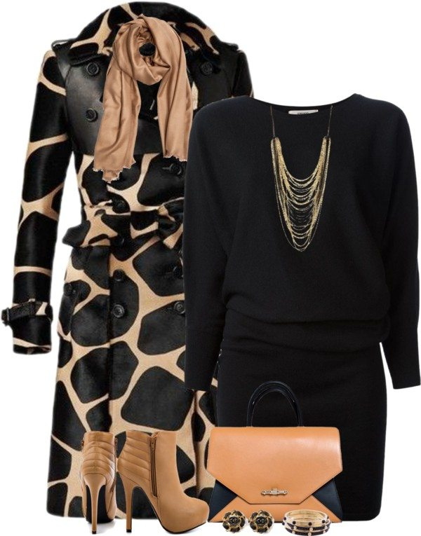 burberry leopard trench coat classy outfit bmodish