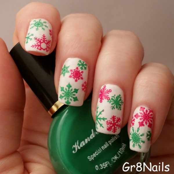 christmas snowflakes nails bmodish