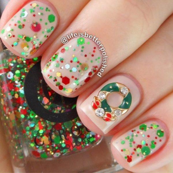christmas time nail design bmodish