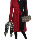 classy hot red and black fall outfit combination bmodish