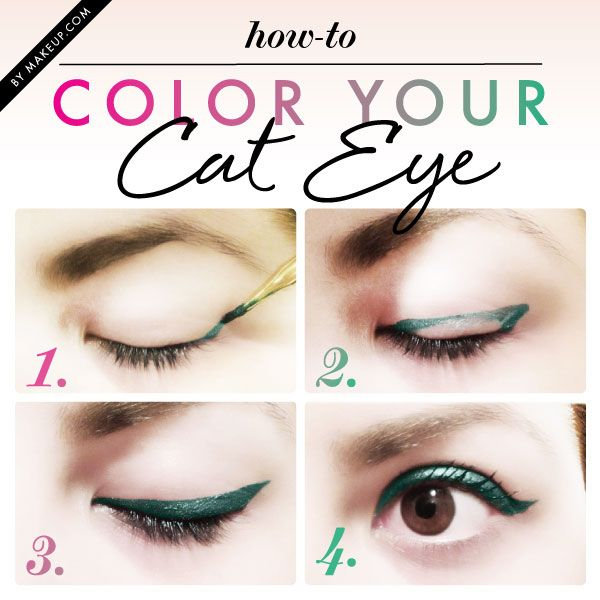 color cat eye tutorial bmodish