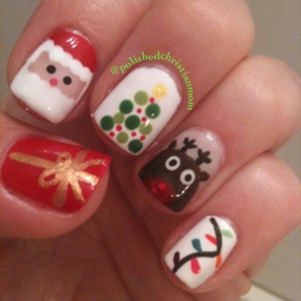 cute christmas nail designs 2017