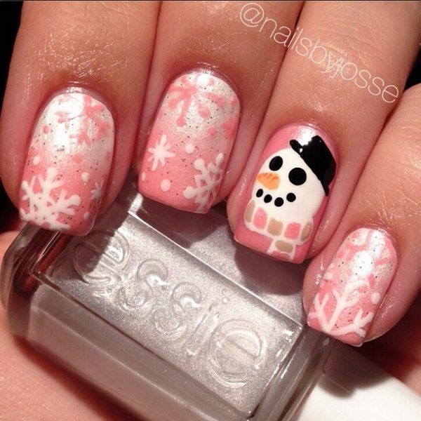33 beautiful snowflake nail art designs be modish cute snowflakes nail design bmodish prinsesfo Image collections