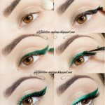 emerald cat eye liner tutorial bmodish